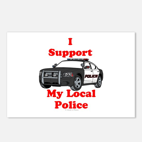 Support Local Police Postcards (Package of 8)
