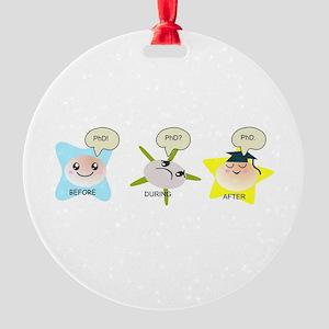 PhD student process Round Ornament