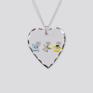 PhD student process Necklace Heart Charm