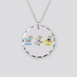 PhD student process Necklace Circle Charm