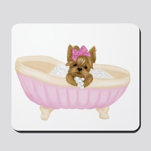 Yorkie in Bathtub Mousepad