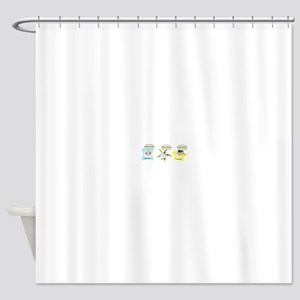 High School student process Shower Curtain