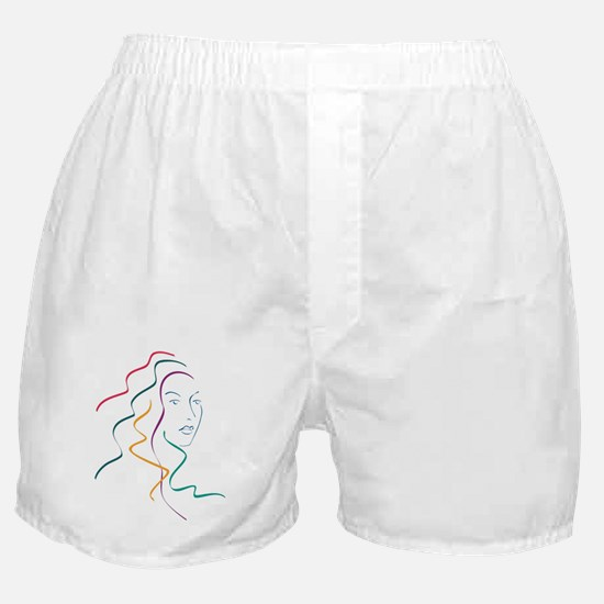 Cute Portrait woman Boxer Shorts