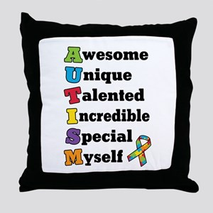 Autism Acronym Throw Pillow