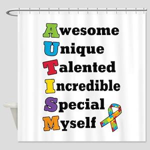 Autism Acronym Shower Curtain