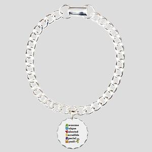 Autism Acronym Charm Bracelet, One Charm