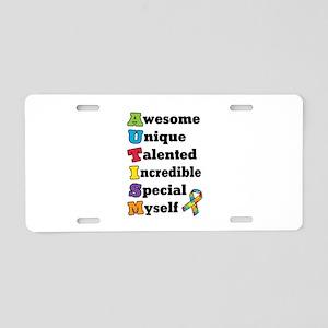 Autism Acronym Aluminum License Plate