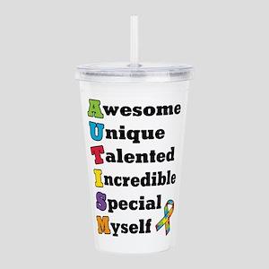 Autism Acronym Acrylic Double-wall Tumbler