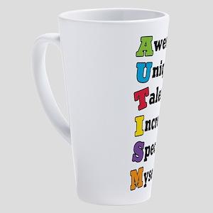 Autism Acronym 17 oz Latte Mug