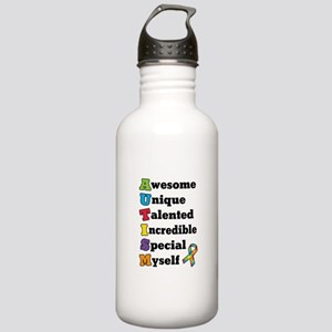 Rounded Square Stainless Water Bottle 1.0L