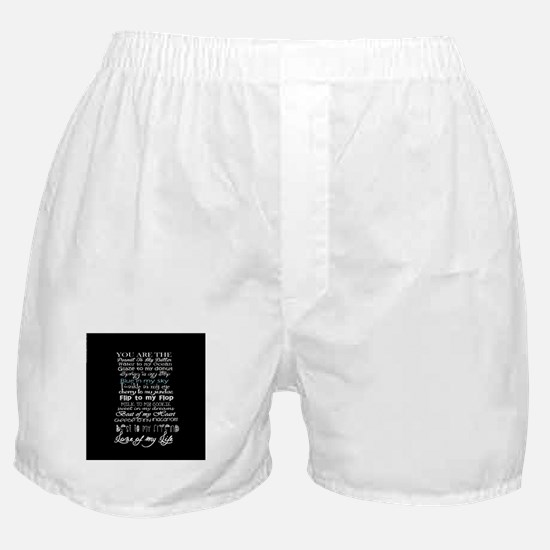 sweet love quote Boxer Shorts
