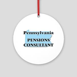 Pennsylvania Pensions Consultant Round Ornament