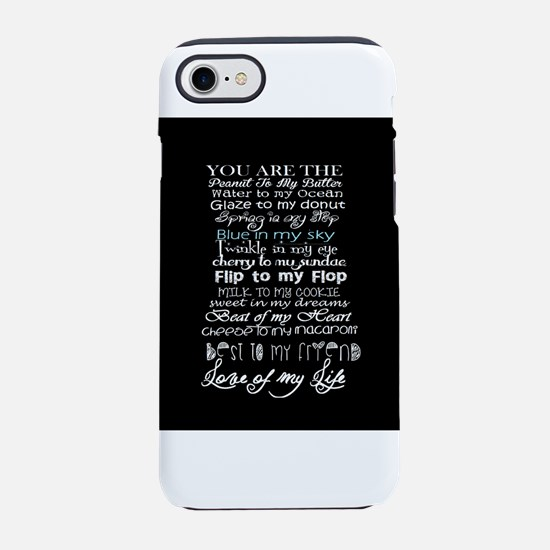 sweet love you are the quote iPhone 8/7 Tough Case