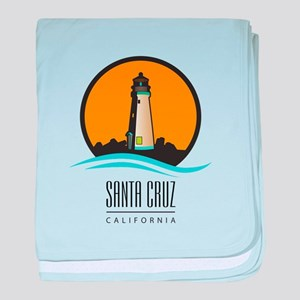 Santa Cruz California CA Light House baby blanket