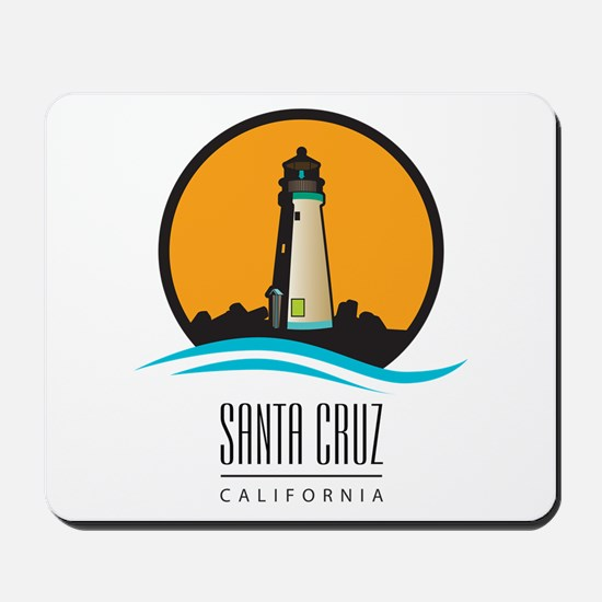 Santa Cruz California CA Light House Mousepad