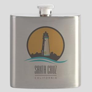 Santa Cruz California CA Light House Flask