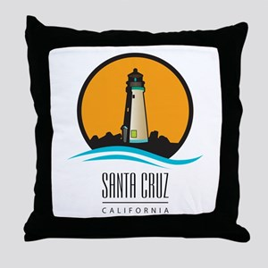 Santa Cruz California CA Light House Throw Pillow