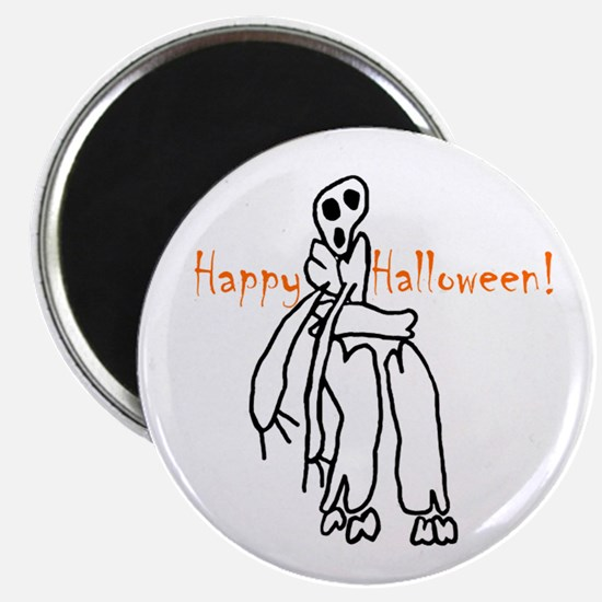 Happy Halloween Skeleton Magnet