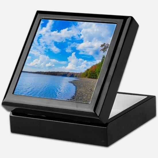 lakeside scenery Keepsake Box
