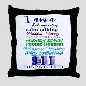 911 DISPATCHER Throw Pillow