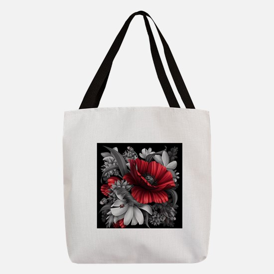 Poppy Power Polyester Tote Bag