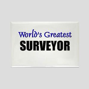 Worlds Greatest SURVEYOR Rectangle Magnet
