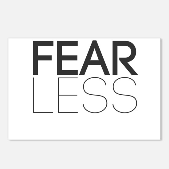Be Fearless, Fear Less Postcards (Package of 8)