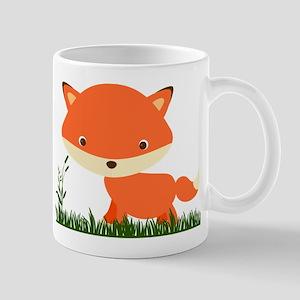 Cute Fox in the grass Mugs