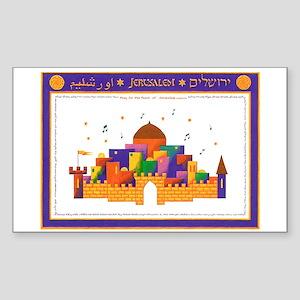 Jerusalem Rectangle Sticker