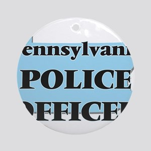 Pennsylvania Police Officer Round Ornament