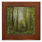 magical trail scene Framed Tile