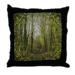 magical trail scene Throw Pillow
