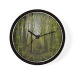 magical trail scene Wall Clock