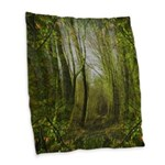 magical trail scene Burlap Throw Pillow