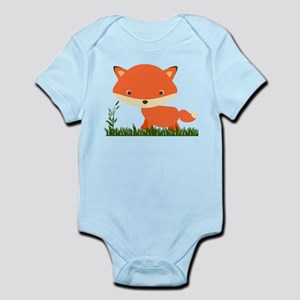 Cute Fox in the grass Body Suit