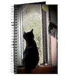 Curious black kitten Journal