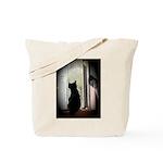 Curious black kitten Tote Bag