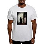Curious black kitten Light T-Shirt