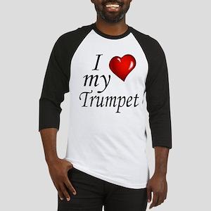 I Love My Trumpet Baseball Jersey