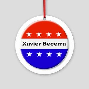 Vote Xavier Becerra Round Ornament