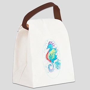 Seahorse cheval de mer Canvas Lunch Bag