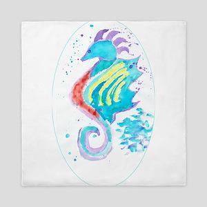Seahorse cheval de mer Queen Duvet
