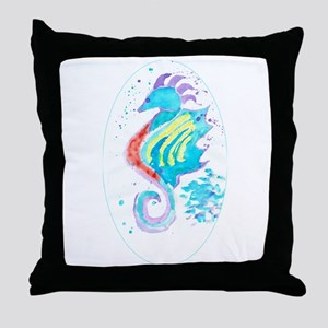 Seahorse cheval de mer Throw Pillow