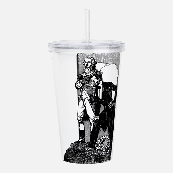abraham lincoln george Acrylic Double-wall Tumbler