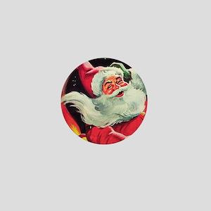 Santa Claus Rocket  Mini Button