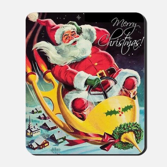 Santa Claus Rocket  Mousepad