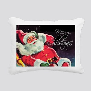 Santa Claus Rocket Rectangular Canvas Pillow