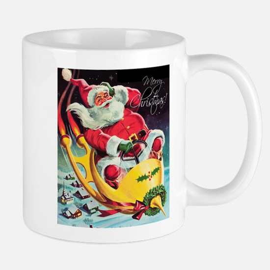 Santa Claus Rocket Mugs