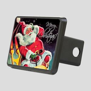 Santa Claus Rocket Rectangular Hitch Cover