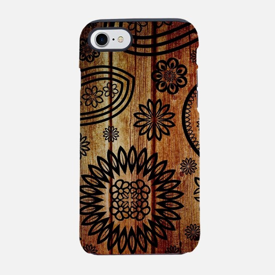 Ornate Wooden Planks iPhone 8/7 Tough Case